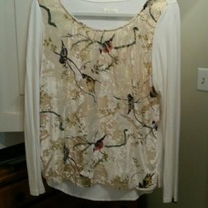 Velvet and cotton size M tunic style blouse